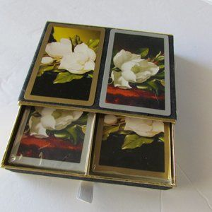 60's Congress Flowered Two Deck Playing Cards NOS